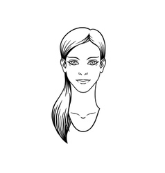 Casual girl with long hair tail vector image