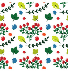 cute seamless pattern with forest plants for vector image