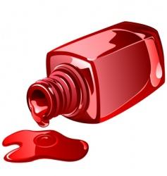nail polish vector image vector image