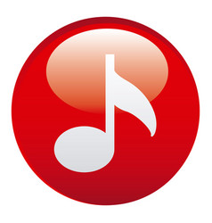 red music emblem icon vector image vector image