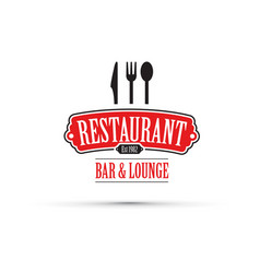 red restaurant design vector image