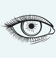 Silhouette of a female eye vector image vector image