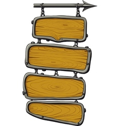 wooden boards color vector image vector image