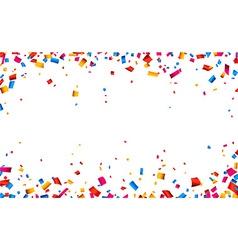 Confetti celebration frame background vector image