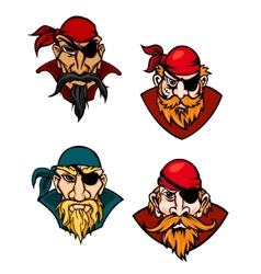 Old danger pirates vector image