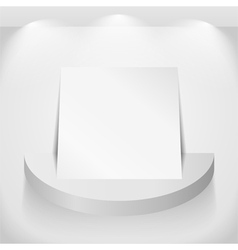 Paper on round shelf vector image