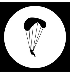 simple parachutist man isolated black icon eps10 vector image vector image