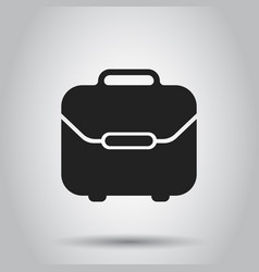 suitcase box icon on isolated background business vector image