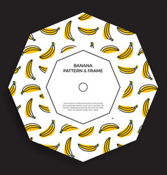 abstract shape postcard with seamless banana vector image