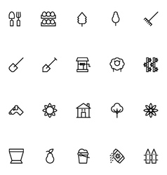 Agriculture Line Icons 4 vector