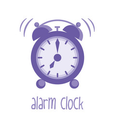 alarm clock isolated vector image