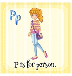 Alphabet p is for person vector