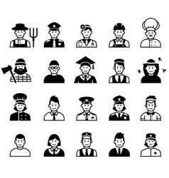 Avatar and People occupations icons Human vector image