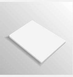 Blank folded leaflet white paper template vector