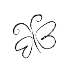 Blurred silhouette sketch butterfly insect vector