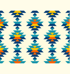 Boho aztec vertical diamonds rows colorful pattern vector