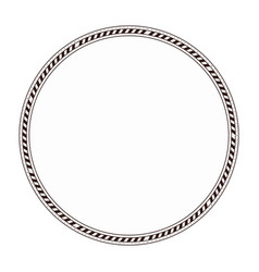 Boho circular frame icon vector