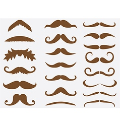 Brown mustache vector