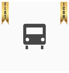Bus icon Flat design style vector