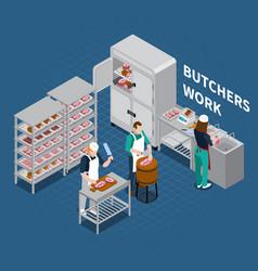 butchery shop floor background vector image