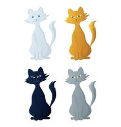 Cartoon cat set vector image