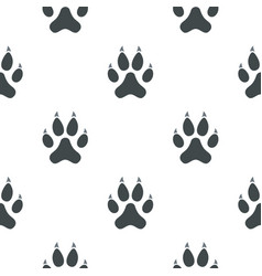 cat paw pattern seamless vector image