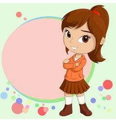 Chibi girl vector
