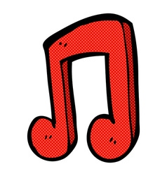 Comic cartoon musical note vector