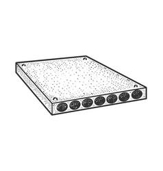 Concrete slab sketch vector