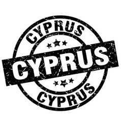 cyprus black round grunge stamp vector image