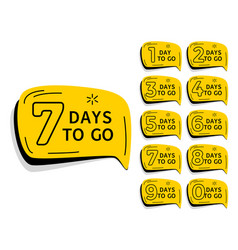 Days left countdown timer for sale and promotion vector