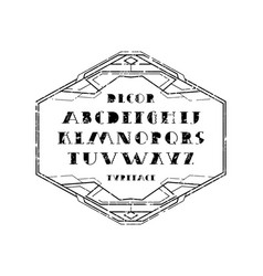 Decorative serif font and frame vector