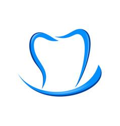 Dental care smile blue symbol logo design vector