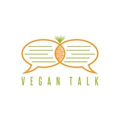design template healthy food talk concept vector image
