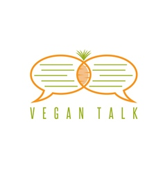 design template of healthy food talk concept vector image