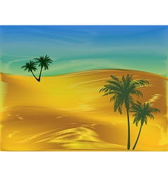 Evening in the desert vector image
