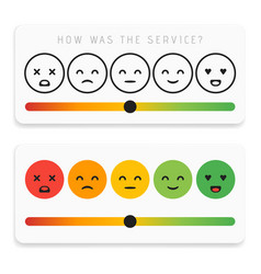 feedback emoticon flat design icon set customer vector image