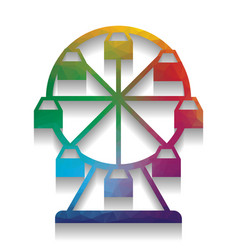 ferris wheel sign colorful icon with vector image