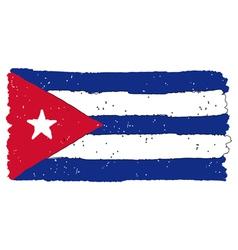 Flag of Cuba handmade vector