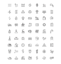 flat energy icons vector image