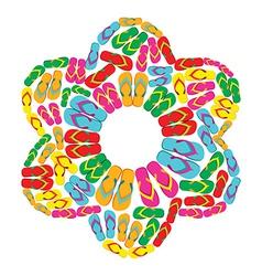 Flip flops flower vector image
