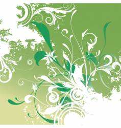 floral graphic background vector image vector image
