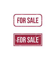 for sale text rubber stamp vector image