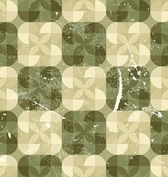 Geometric seamless tiles in retro style background vector image