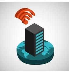 Global connection wifi digital data base vector