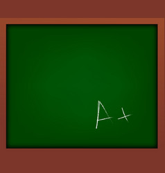 green school chalkboard with frame vector image