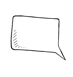 hand drawn doodle of a speech bubble vector image