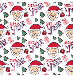 Happy new year pattern christmas seamless vector