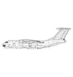 Ilyushin il-76 candid vector