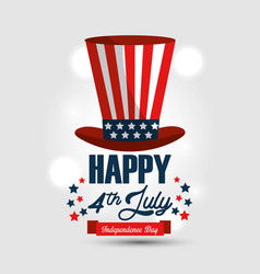 Independence day with usa hat vector